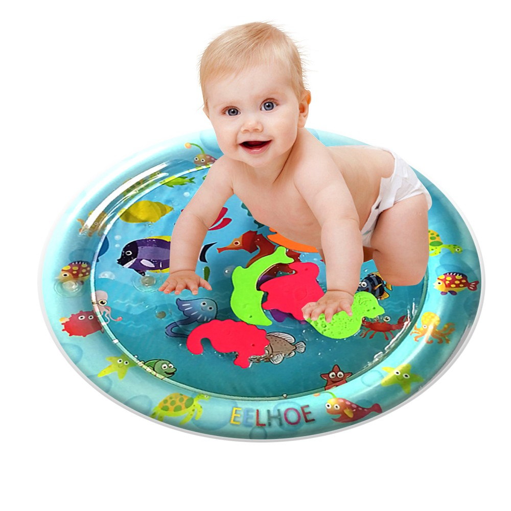 Inflatable Baby Water Mat Fun Activity Play Center For Children & Infants Water Water Inflatable Mat Fun Activity Play Center