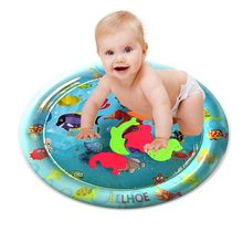 Inflatable Baby Water Mat Fun Activity Play Center for Children & Infants water water Inflatable mat Fun Activity Play Center(China)