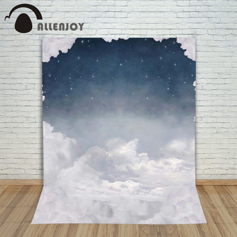 Allenjoy baby Photo background dream wonderland fairy tale Night sky clouds for newborn kids photography backdrops nina stefanovich tale about littleworm book for kids