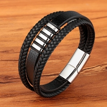 Bangles Punk Charm Leather Bracelet for Women Men