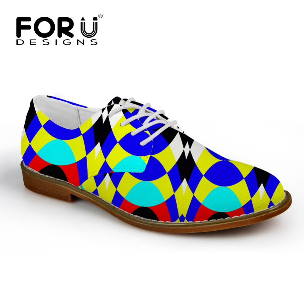 FORUDESIGNS Men Shoes 3D Solid Mixed Color Print Leather Flats Shoes Male Casual Lace-up Fashion Man Oxford Shoes Zapatos Hombre new fashion men shoe genuine leather lace up mixed colors man dress business casual shoes zapatillas deportivas zapatos hombre page 5