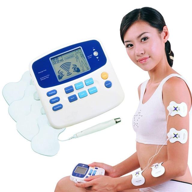Dual Tens Machine Digital Lage Frequentie Therapeutische Elektrische Spierstimulator Tientallen Stimulator Met Lcd scherm Acupunctuur Pen
