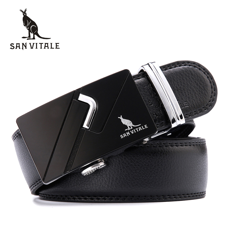 Fashion designer leather strap male automatic buckle belts for men authentic girdle <font><b>trend</b></font> men's belts ceinture free shipping