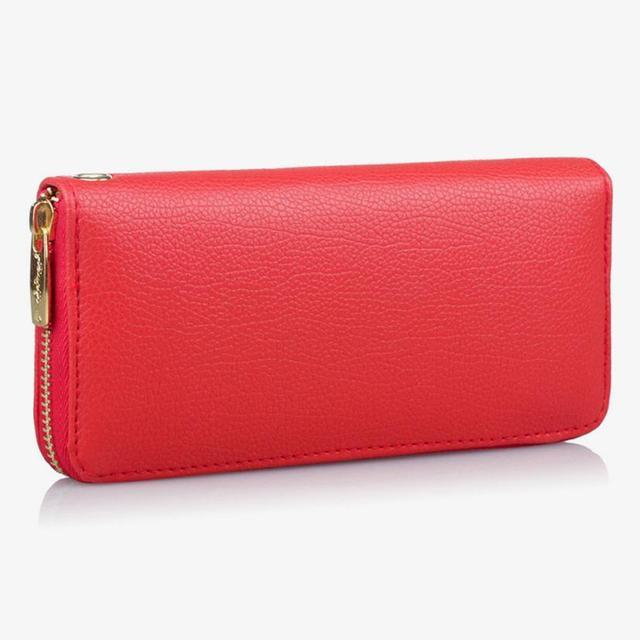 84a2a4fc587f Модный женский кожаный кошелек для монет сумка кошелек телефон сумка женский  длинный кошелек оптовая продажа Прямая