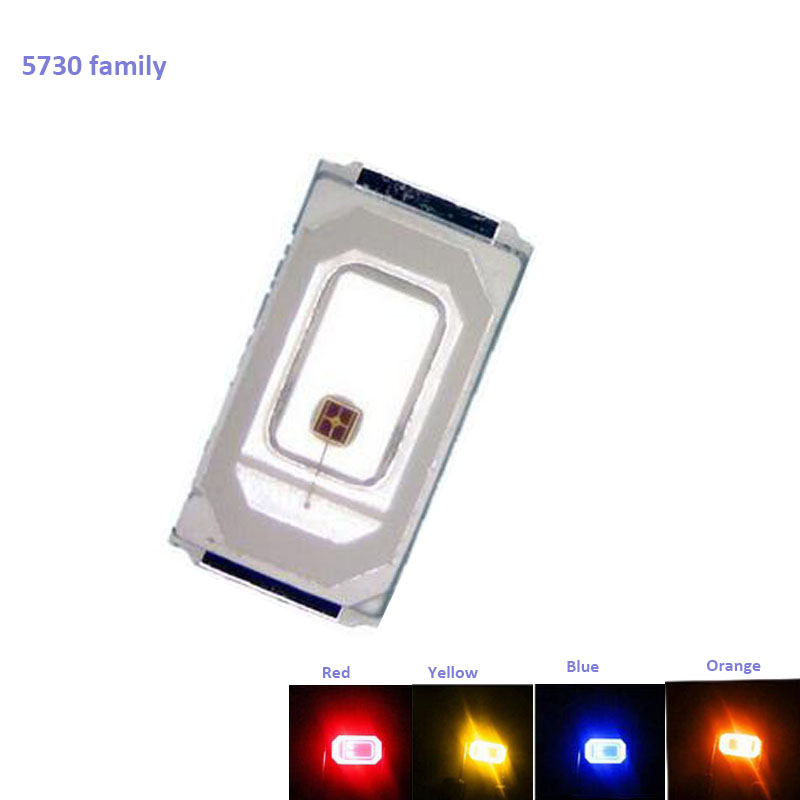 5730 Family Full Color High Brightness 0.5W 5730/5630 SMD LED Diode Crystal Clear 15-18lm 2.0-3.2V 150ma 50PCS/Lot Fast Delivery