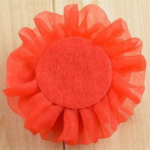 Image 5 - 200 יח\חבילה 12 צבע U להרים 3.5 inch שיפון אורגנזה Ruched פאף פרחים עם ריינסטון בגד פרח חתונה קישוט TH24