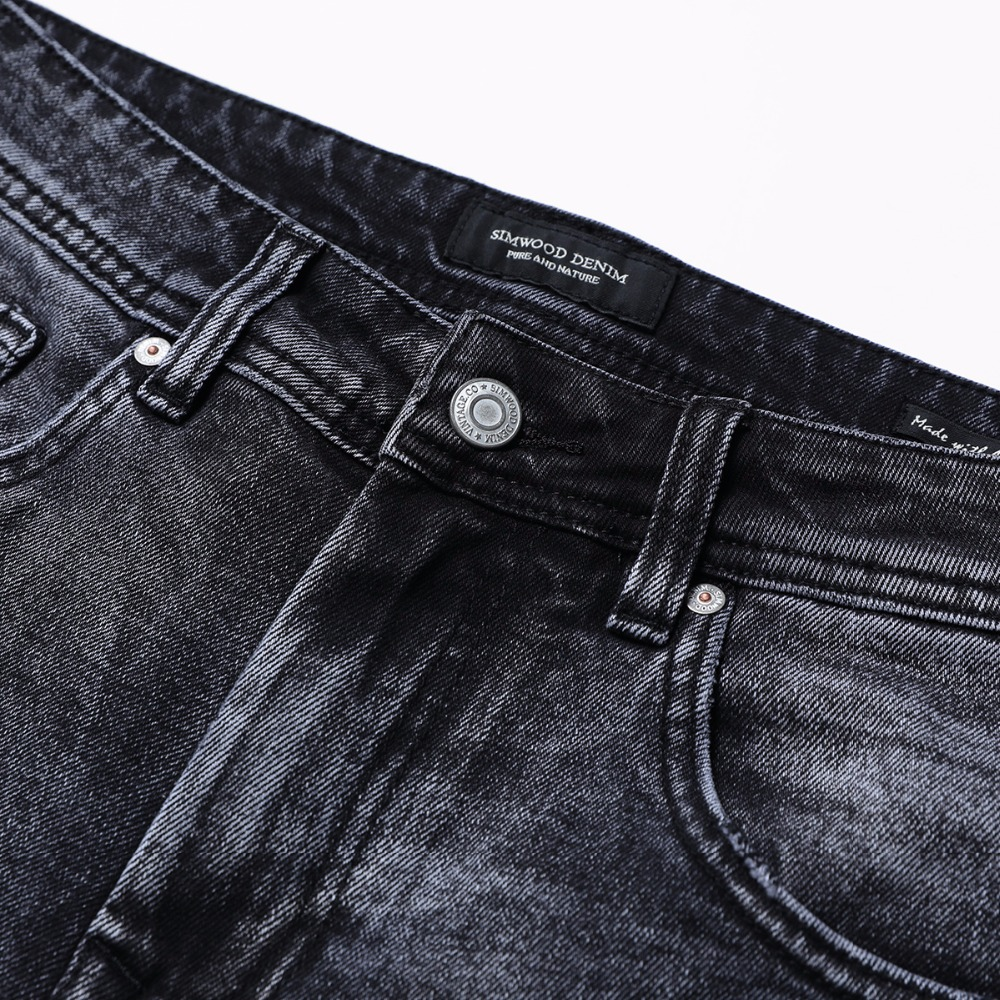 Image 3 - SIMWOOD New Arrive 2019 autumn Jeans Men Fashion Vintage Slim Fit Casual Brand Denim Trousers Plus Size Free Shipping 180315-in Jeans from Men's Clothing