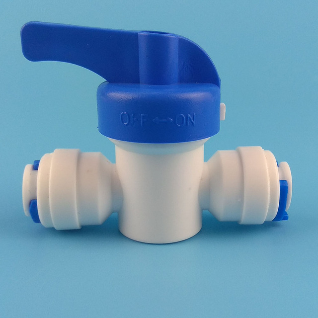 10 PCS Water Connect 1/4 inch Ball Valve Shut off Quick Connect for Water Reverse Osmosis System Aquarium Osmosis €39.99 Fittings