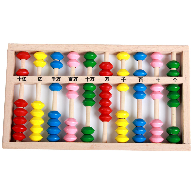 abacus chinese toy childhood 10 digits wooden vintage abacus toys kids scores educational math games montessori counting beads