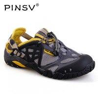 Plus Size 39 47 Outdoor Sneakers Men Sandals Leather Summer Shoes Men Sandals Casual Water Shoes Male Sandalias Hombre PINSV