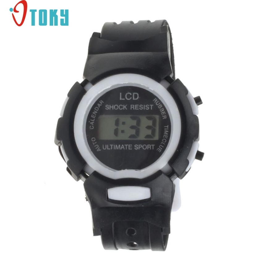 Novel Design Boys Girls Student Time Sport Electronic Digital LCD Wrist Watch free shipping  jy14 Dropshipping new fashion design unisex sport watch silicone multi purpose date time electronic wrist calculator boys girls children watch