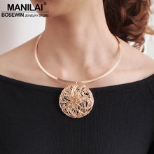 Choker Necklace Collar Jewelry Statement-Pendants Torques Punk Wholesale Women MANILAI