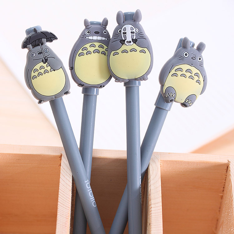 1 PCS Novelty Cute My Neighbor Totoro Gel Ink Pens Signature Pen Escolar Papelaria Office School Supply Promotional Student Gift недорого