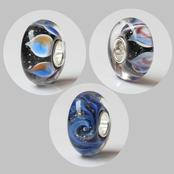 Emith Fla 100% Real 925 Sterling Silver  Large Hole Flame Murano Glass Bead Fit Original European Troll Charms 3.5mm Bracelets emith fla 100% real 999 sterling silver bangle opening fashion jewelry for women lotus adjustable vintage thai silver bracelets
