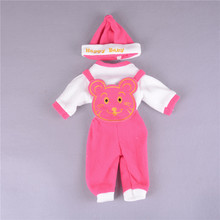 3pcs/set Fashion Doll Clothes Hat Suit For 50cm Reborn Baby Doll Doll Accessories Best Gifts Wholesale 4 Colors Pick