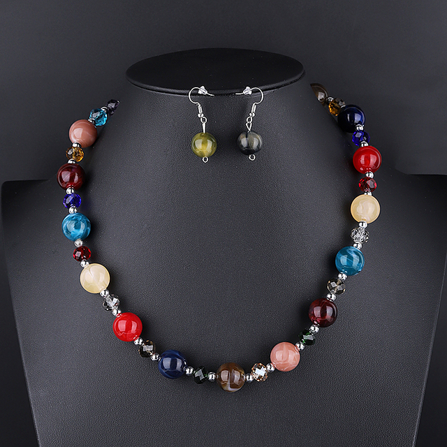 Color African Beads Jewelry...