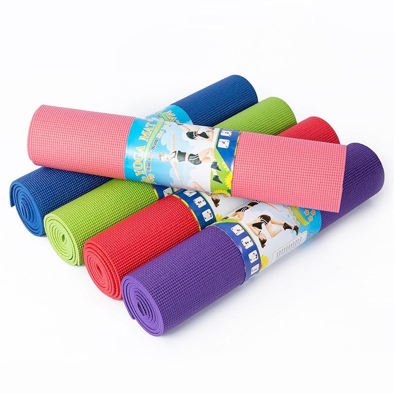 Yoga Mat 6mm Thick PVC Non Slip Pad High Density Pilates