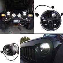 Lada のための 4 × 4 都市 Niva ディフェンダー 4 × 4 オフロードフロントライトラウンドヘッドライト 7 インチヘッドランプオフロード LED 駆動ライトランプ