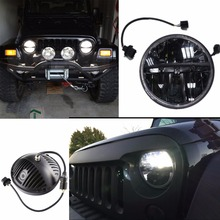 for Lada 4x4 urban Niva Defender off road Front Light Round Headlights 7 inch Headlamp Offroad LED Head Driving Lamp