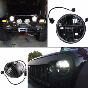 Image 1 - for Lada 4x4 urban Niva Defender 4x4 off road Front Light Round Headlights 7 inch Headlamp Offroad LED Head Driving Light Lamp