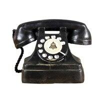 Home Decor Retro Phone Figurines Resin Vintage Telephone European style Handwork Decoration Imitation Make Old Figurines Gift