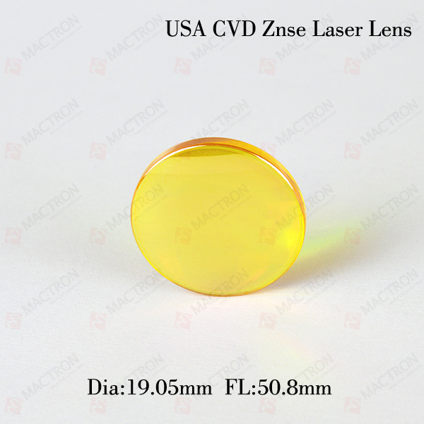 USA 19.05mm CVD Import ZnSe And CO2 Laser Focus Lens, Focusing Length 50.8mm cvd znse co2 laser focus lens diameter 19mm focus length 50 8mm thickness 2mm