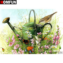 """HOMFUN Full Square/Round Drill 5D DIY Diamond Painting """"Bird & Flower"""" Embroidery Cross Stitch 5D Home Decor Gift A07252"""