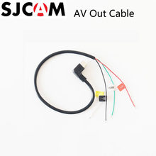 SJCAM Micro USB a AV Cable para SJ CAM SJ4000/SJ5000/SJ5000X Elite/M10 de deportes de acción FPV cámara de Video de Cable de Audio(China)