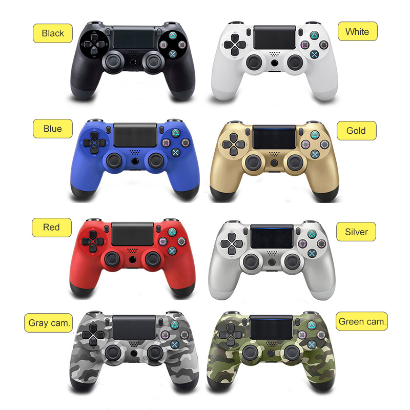 Wireless Bluetooth Game Controller for Sony PS4 PlayStation 4 Controller for Dual Shock Vibration Joystick Gamepad for PS4
