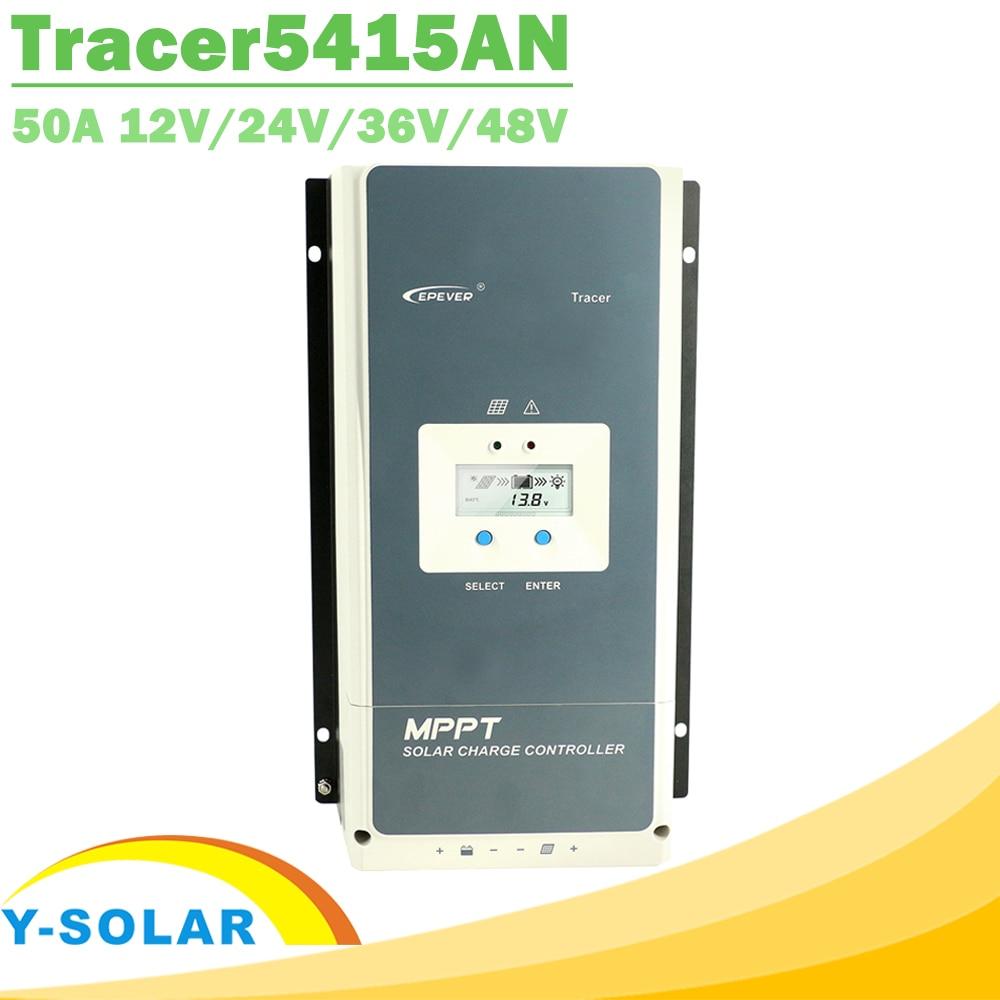 EPever 50A MPPT 12 v 24 v 36 v 48 v de Charge Solaire Contrôleur Rétro-Éclairage LCD Affichage Max 150 v PV Commun D'entrée Négative 5415AN
