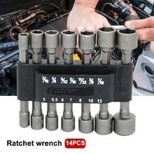 14 шт. без магнита с шестигранной ручкой кольцевой гаечный ключ набор для электрической отвертки