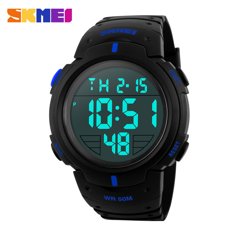 Hot Clock SKMEI Brand Men Sports Watches LED Digital Military Watch 5ATM Swim Climbing Fashion Outdoor Casual Men Wristwatches hot sale skmei brand men women fashion waterproof sports watches led display message call reminder fitness digital smart watch