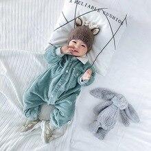 Вельветовая зимняя одежда для маленьких мальчиков; теплый зимний комбинезон; одежда для маленьких девочек; Модный комбинезон; одежда для маленьких детей; Одежда для новорожденных