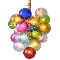 Новинка красочный шар подвесные светильники Nordic подвесные светильники Творческий Магия стеклянный шар огни гостиная спальня подвесные св
