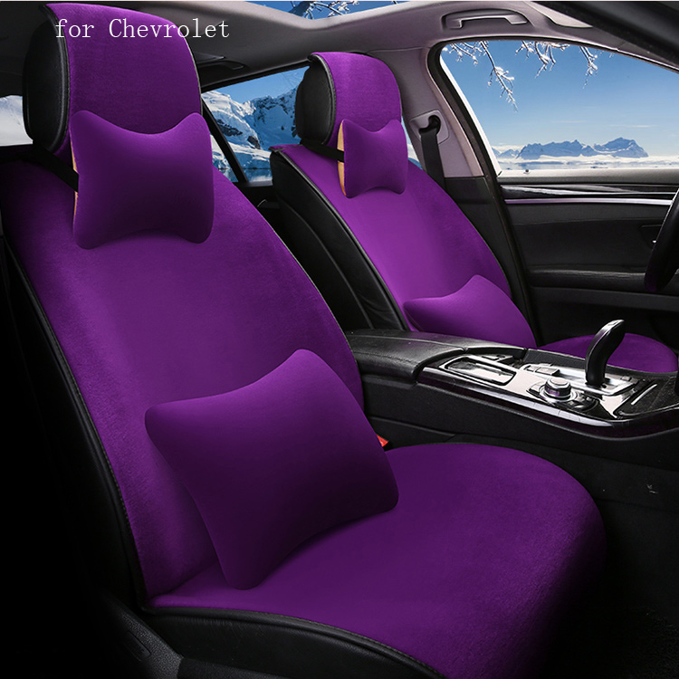 OUZHI keep warm plush car seat cover for chevrolet cruze aveo chevrolet captiva front rear full fur autumn winter seat covers top cowhide sew on genuine leather steering wheel cover for chevrolet captiva at
