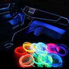 цена на 1M/2M/3M/5M Car Led Interior lighting Illuminazione Auto Wire Rope Tube Line flexible Neon Light For Audi a3 a4 a4l q5 q7