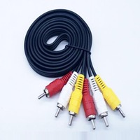 New 3 RCA Male to 3 RCA Male Audio Cable DVD AV Cable 1.5M