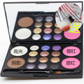 blush + 12 color eye shadow double-color grooming the earth color waterproof pink peach colour makeup brush dribbling