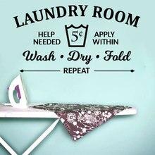 Çamaşır Odası Kuralları Duvar Sticker Yıkama Kuru Kat Vinil Duvar Çıkartması Banyo Alıntı duvar resmi Çamaşır Odası Çıkarılabilir Duvar Kağıdı XY07