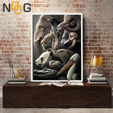Endangered animals Wall art Poster Nordic Canvas Painting Posters and Prints  For Living Room Unframed Decor