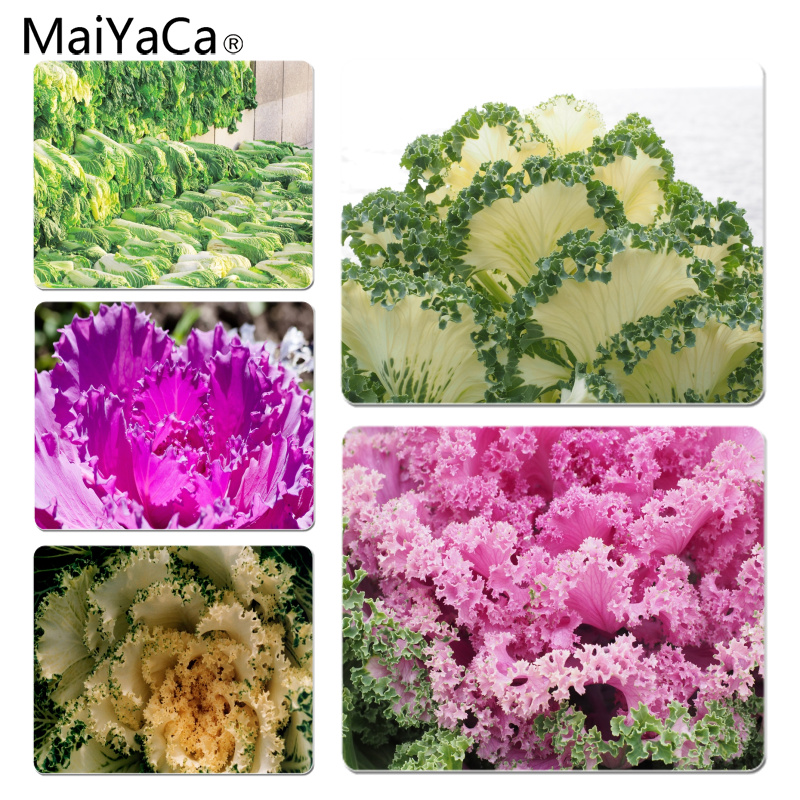 MaiYaCa Ornamental cabbage Large Mouse pad PC Computer mat Size for 18x22x0.2cm Gaming Mousepads