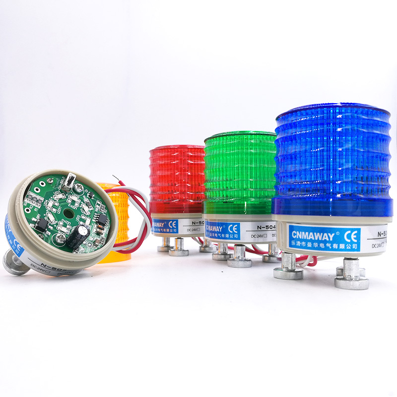 Magnetic Strobe Signal Warning Light N-5041T 12V 24V 220V Indicator Light LED Lamp Small Flashing Light Security Alarm