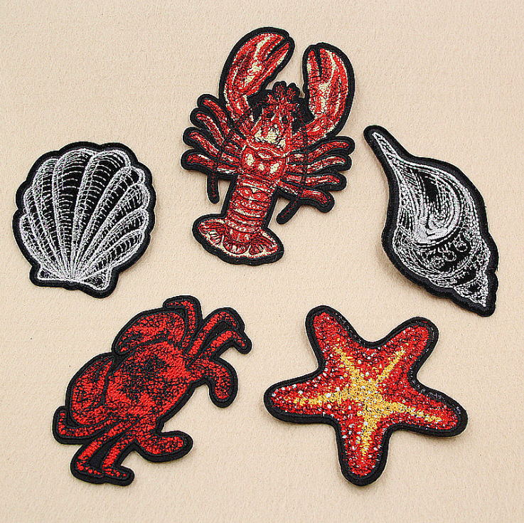 Shock-Resistant And Antimagnetic Patches Apparel Sewing & Fabric Objective New Arrival 10 Pcs Starfish Shell Embroidered Cartoon Patches Iron On Jeans Coat Tshirt Bag Shoe Hat Motif Emblem Accessory Diy Waterproof