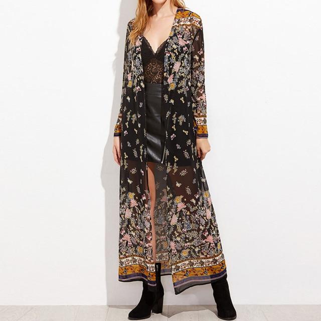 Full-Length Floral Kimono 2