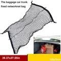 Alta elástica equipaje maletero del coche red fija La caja de la cola bolsa de compartimiento de Almacenamiento de red de almacenamiento de Material de Polipropileno plano