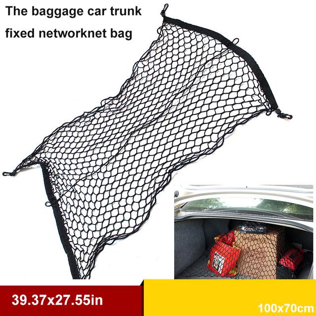 Alta elástica bagagem tronco rede fixa A caixa de cauda do carro saco compartimento De Armazenamento de rede de armazenamento de Material de Polipropileno plana