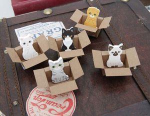 3d наклейки в виде милых кошачьих липких нот, бумажные блокноты, бумажные наклейки, кавайный блокнот, канцелярские принадлежности для офиса