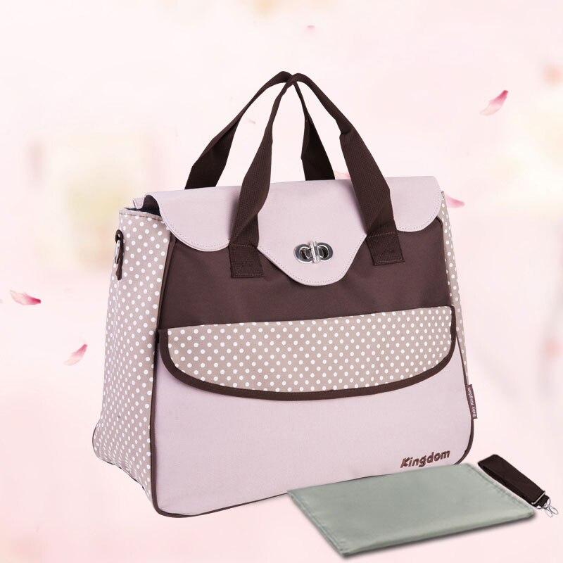 Élégant dot Mixte couleurs épaule de maternité sac multifonctionnel mère sac à main nouveau-né de soins nappy poussette sacs bébé sacs à couches