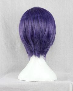 Image 4 - Парик Из Аниме Tokyo Ghoul Touka Kirishima, короткие фиолетовые волосы Kirishima Toka, вечерние парики для Хэллоуина + парик
