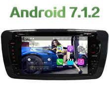 "7"" HD 2GB RAM Quad Core Android 7.1.2 Multimedia 4G DAB+ Car DVD Player Audio Stereo Radio GPS Navi for VW Seat Ibiza 2009-2014"